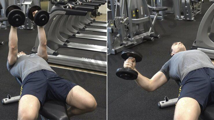 Aperturas con mancuernas ejercicio