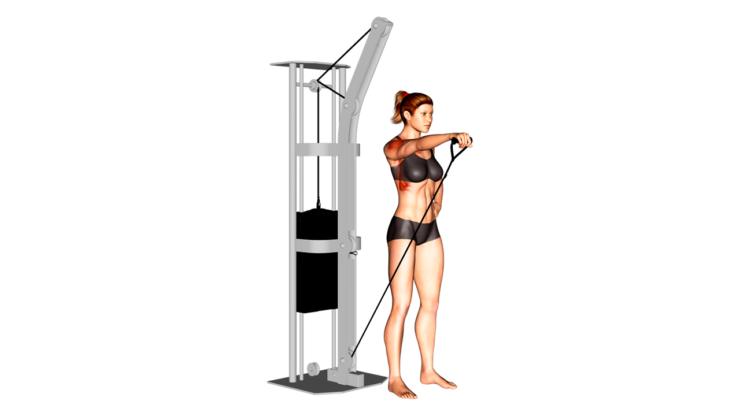 Elevaciones frontales alternadas con polea baja ¿Cómo hacer este ejercicio de hombros?