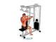 Aperturas invertidas en máquina (posición inicial) - ejercicio para hombros